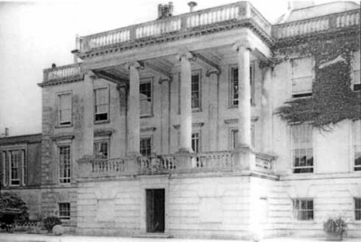 The portico at Frampton House
