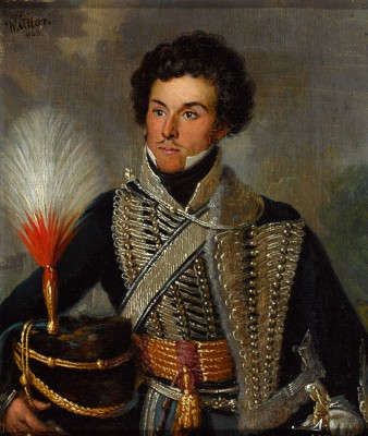 An officer, 18th Regiment of (Light) Dragoons (Hussars), 1815. National Army Museum