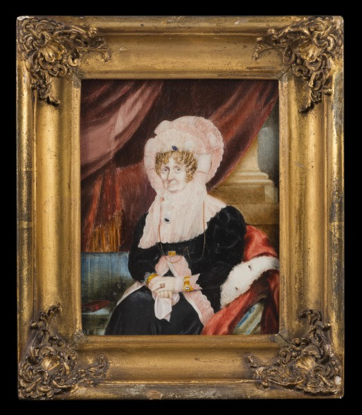 Portrait of a lady identified as Frances, Dowager Viscountess Nelson (1761-1831), watercolour on ivory, signed and dated 'J.B.Beech 1831', 180 x 135mm / 7 x 5 ¼ inches. Martyn Downer Works of Art Ltd