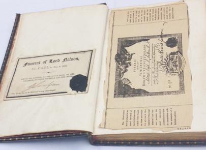 Halloran book & funeral ticket
