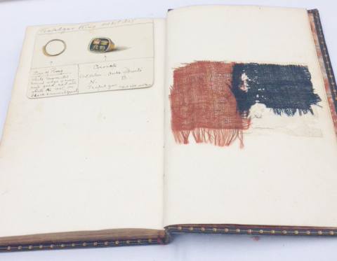 Halloran book with flag